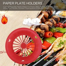 4 pcs Plastic Paper Plate Holders Reusable 3-tab Style Picnic BBQ C&ing Parties Plate & Buy paper plate holders plastic and get free shipping on AliExpress.com