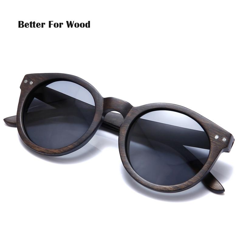 2018 Dames Heren Cateye Houten Zonnebril Vintage ronde zonnebril - Kledingaccessoires - Foto 2