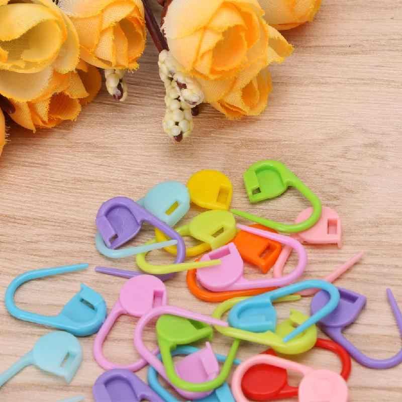 Baru 20Pcs Colorful Knitting Stitch Spidol Crochet Penguncian Alat Kerajinan Pemegang Cincin