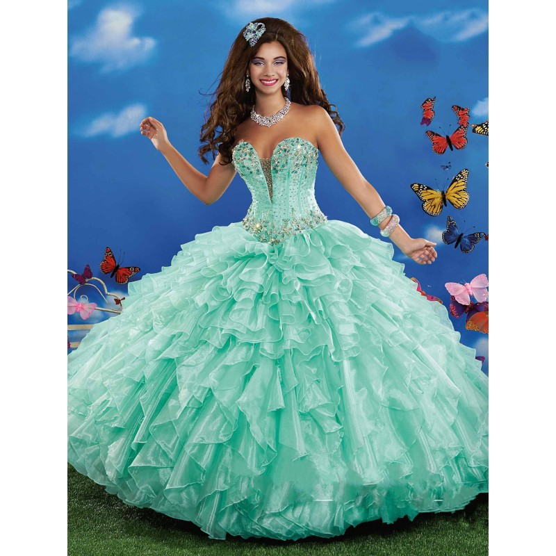 Quinceanera Dresses 2014 Mint Mint Green Chea...