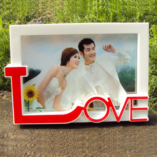 4 color frame creative photo frame 6 inch plastic picture frames custom frames wholesale studio best gift free shipping