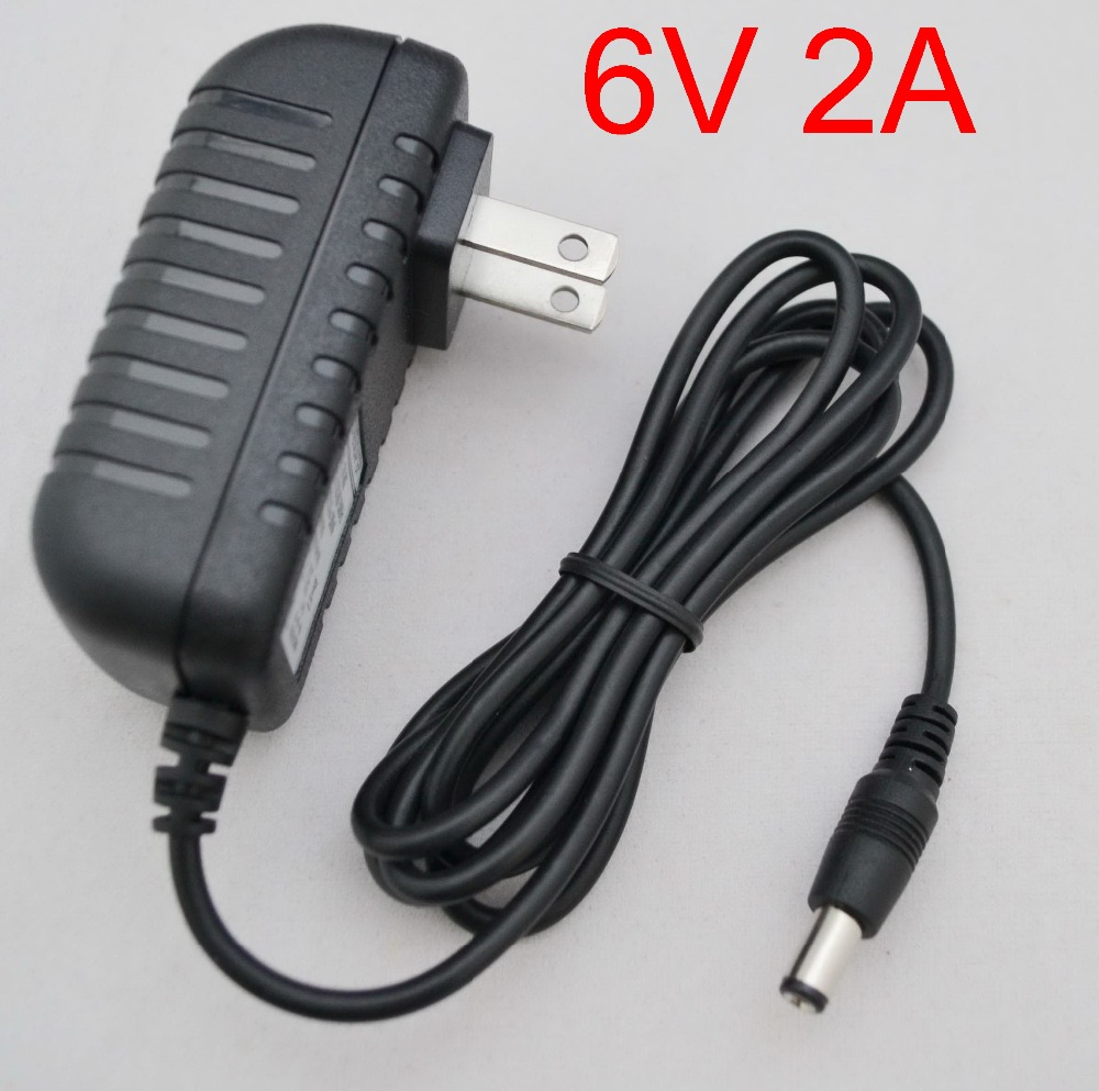 50PCS High quality DC 6V 2A IC program AC 100V 240V Converter Switching power adapter 2000mA