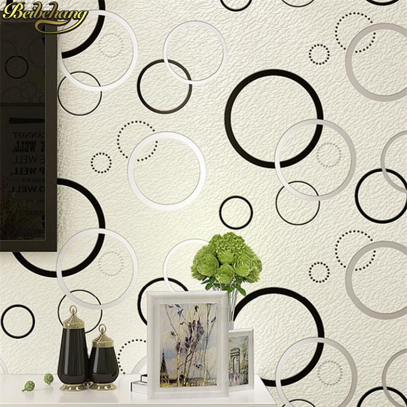 beibehang 3D Modern simple wall papers home decor living room bedroom Geometric circle wallpaper for walls TV background ceiling vintage chinese black white geometric wallpaper study living room tv background walls mural ceiling murals wall paper home decor