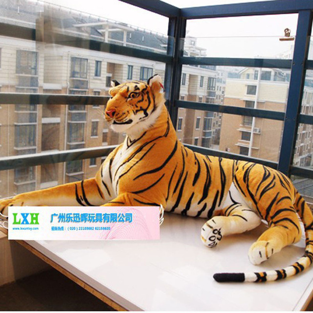 Artificial Over Larger Tiger Plush Toy 170cm Cute Stuffed Animals