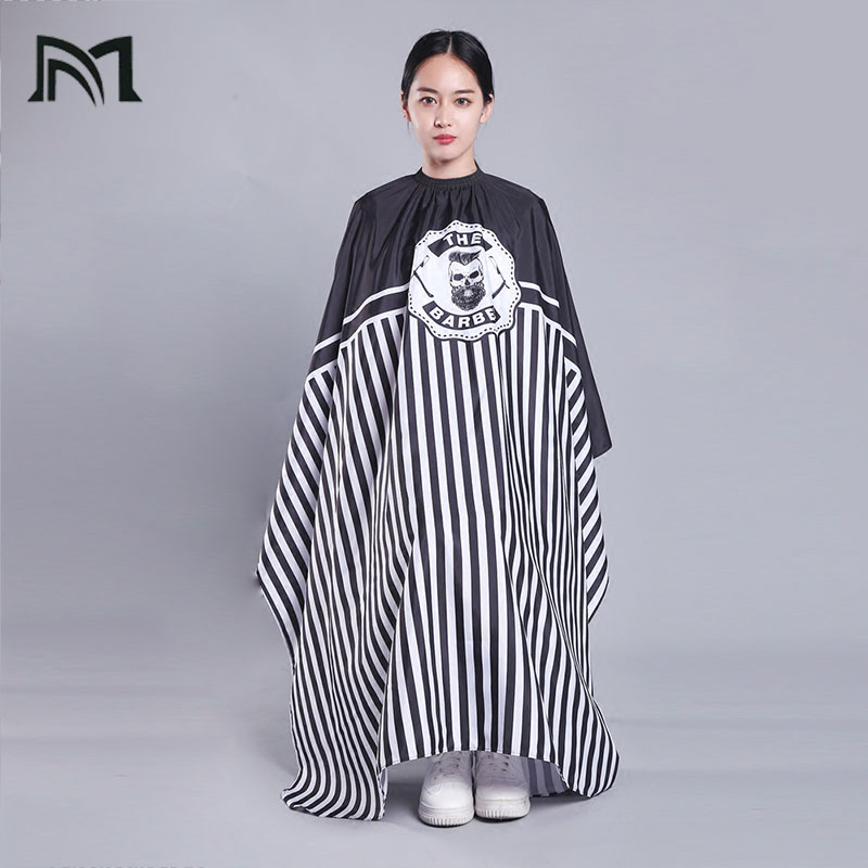 Купить с кэшбэком 1PC 140*160CM Hairdresser Capes Salon Barber Cutting Hair Waterproof Cloth Salon Barber Gown Cape Hairdresser Hair Dresser Wrap