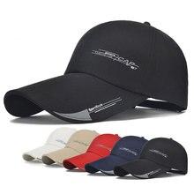 2018 new Long Brim Shade Snapback Sports Cap Mens Hat For Fish Outdoor  Fashion Line Baseball Cap Sun Dad Hat Bone Gorras a2cb6f3e2c95