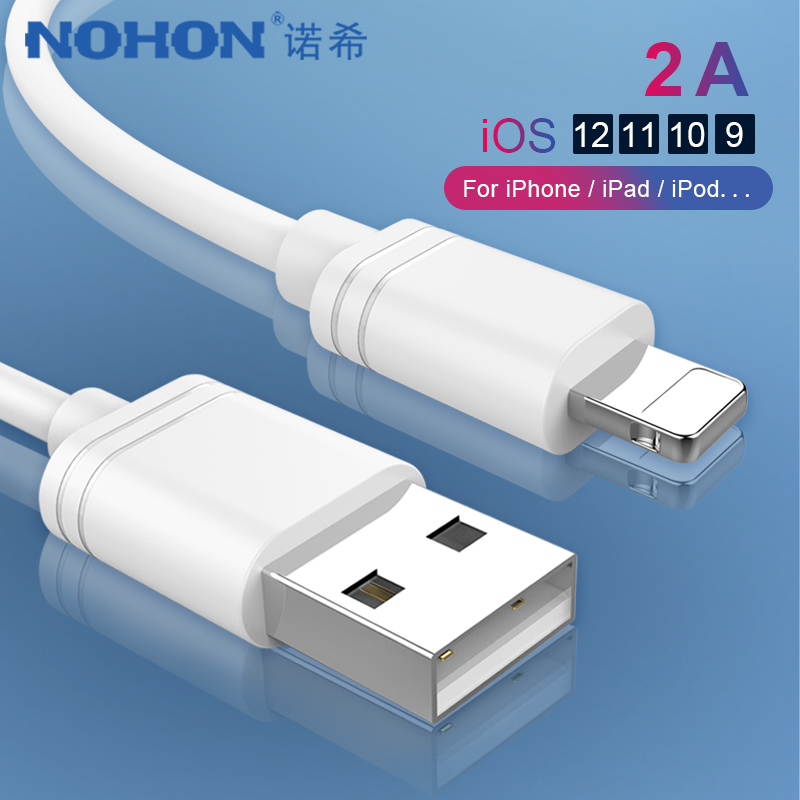 NOHON TPE 8 Pin Charging Data Cable For iPhone X XS MAX XR 8 7 6 6S 5 5S Plus Ipad mini IOS 11 12 Lighting Charger Sync USB Line|Mobile Phone Cables| |  - AliExpress