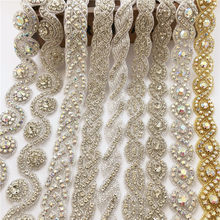 e656167e0b Popular Crystal Wedding Rhinestone Applique Fabric-Buy Cheap Crystal ...