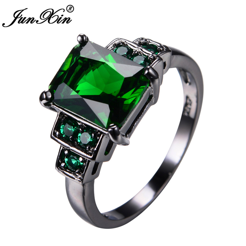 gr four fourprong rings rb color bling jewelry cut ct prong cz green emerald ring