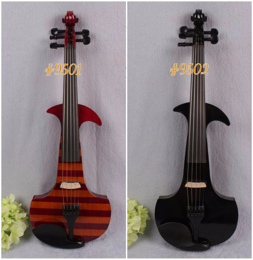 #9501# 4/4 Electric Violin Powerful Sound Solid wood Big New 5 strings electronic violin 6 string electric violin new 4 4 flame guitar shape solid wood powerful sound6 611