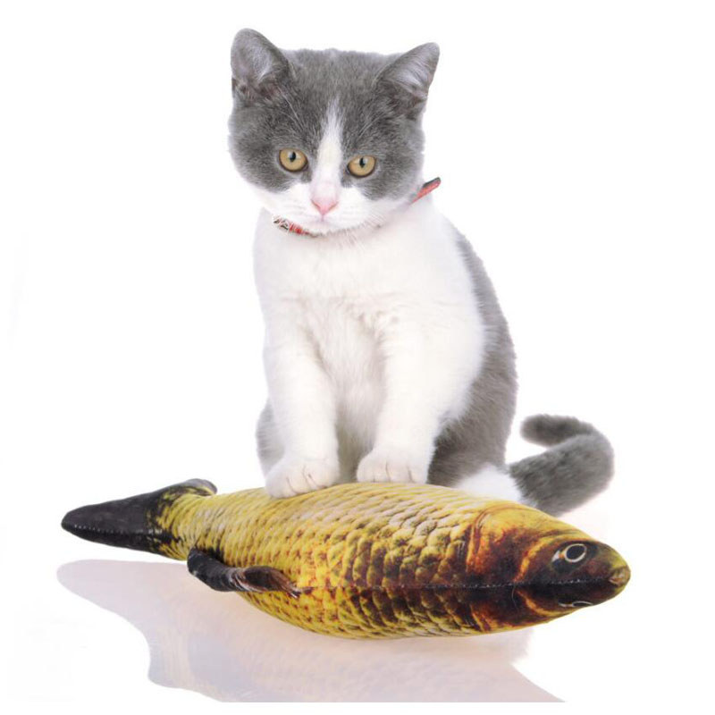 3D Carp Fish Shape Pet Dog Toy Creative Cat Toy Gifts Catnip Fish Stuffed Pillow Doll Simulation Playing Toy For Small Dogs Cats thumbnail