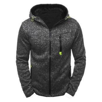 Manoswe Men Sports Casual Wear Zipper COPINE Fashion Tide Jacquard Hoodies Fleece Jacket Fall Sweatshirts Autumn Winter Coat 1