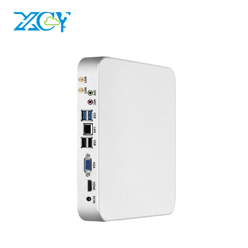 XCY X26UL Mini PC Intel Core i3 4010Y i5 4210Y Processor Support Windows 7/8/10 Micro Desktop Computer HDMI VGA WiFi 6x USB HTPC mini computer windows 10 mini pc cpu intel core i7 4610y i5 4210y i3 4010y ddr3 ram office computer gaming pc hdmi vga wifi