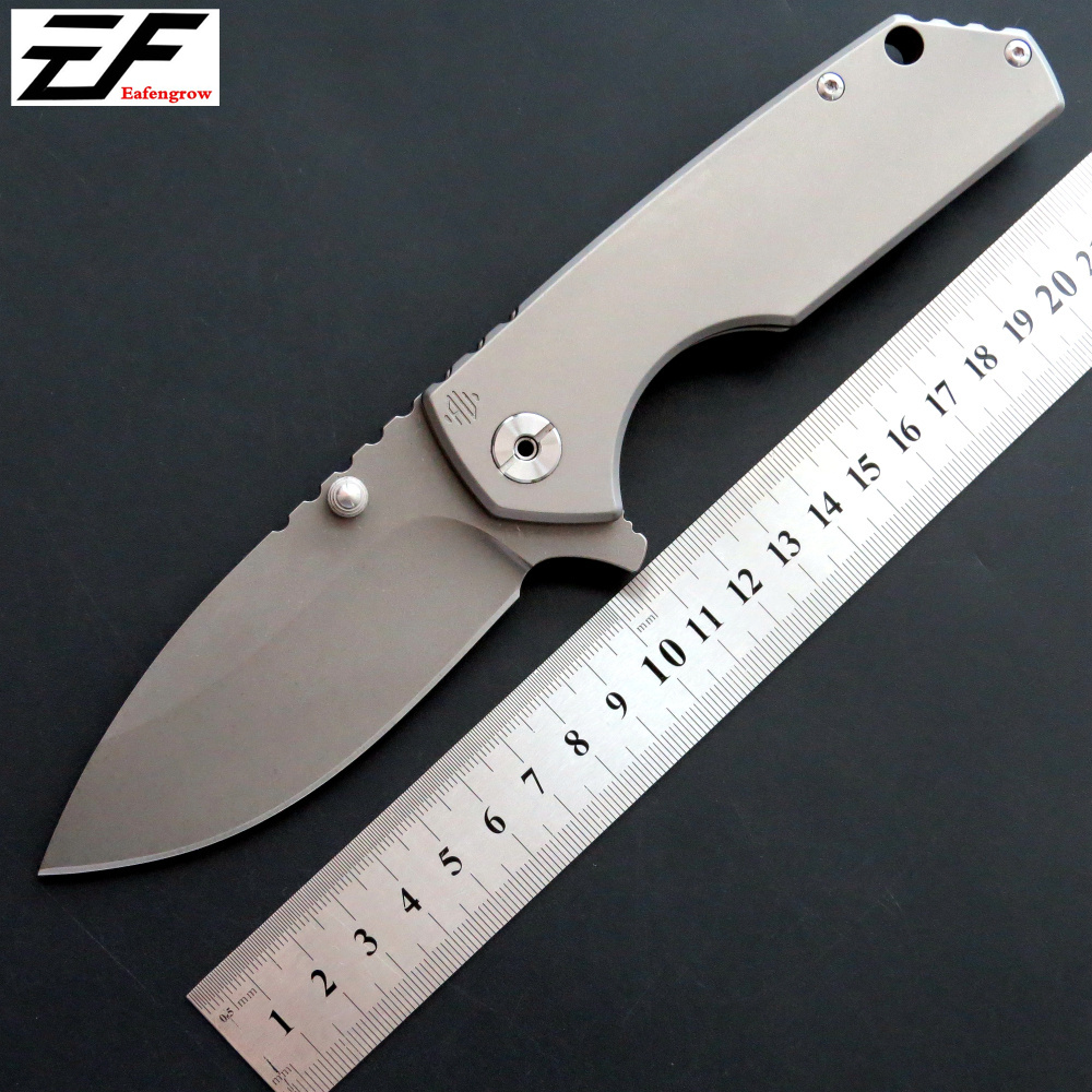 High quality EF906 Folding knife D2 steel blade TC4 handle survivcal knife outdoor camping hunting EDC tool tactical knife high quality trimming knife deburring knife adjustable triangular scraper alumina handle sc1300 blade bd5010