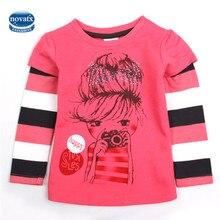 Novatx nova белая детской девочка футболка девушка футболки печати девочек одежды