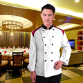 L-XXL Long Sleeve Kitchen Cooker Working Uniform Chef Double Breast Waiter Waitress Coat Jacket Color White Wholesale DM#6