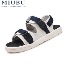 MIUBU Outdoor Fashion Men Sandals Summer Men Shoes Casual Shoes Breathable Beach Sandals Sapatos Masculinos цены онлайн