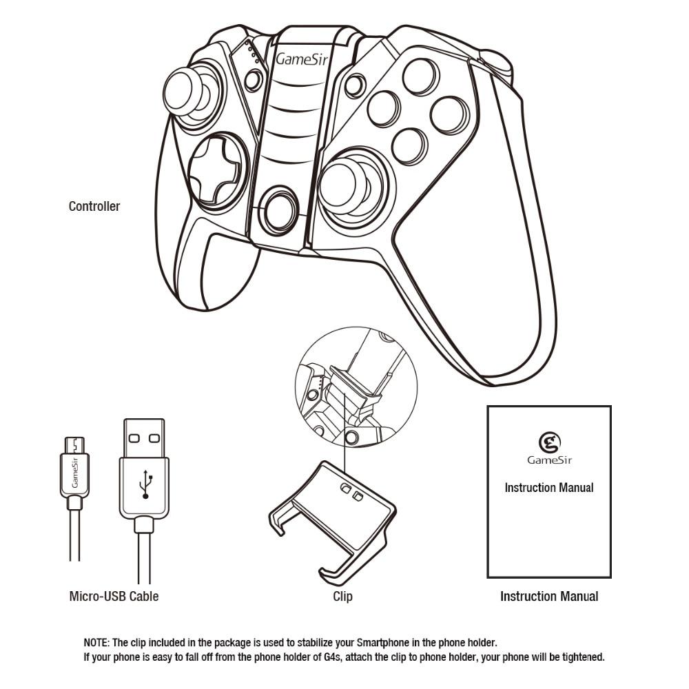 GameSir G4 Top Gamepad Bluetooth spēļu kontrolieris Wireless 4.0 - Spēles un aksesuāri - Foto 6