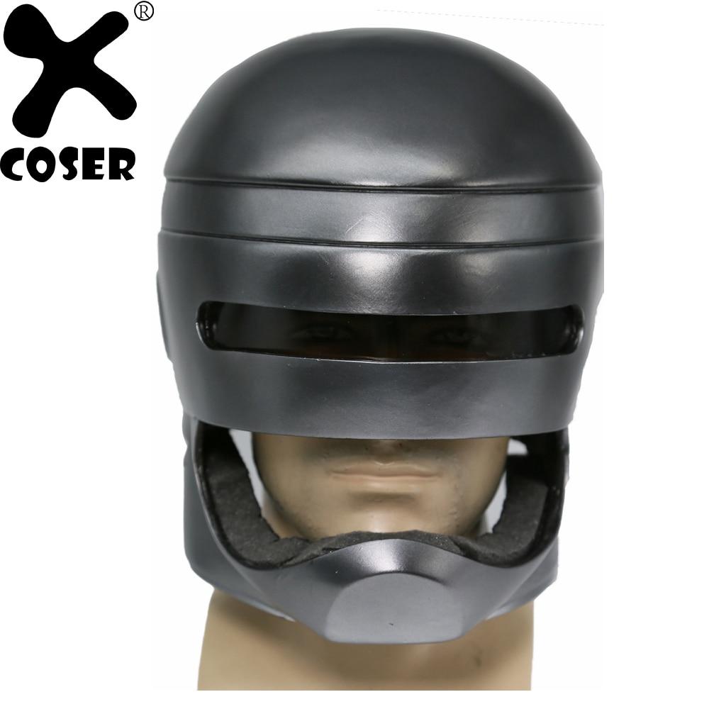 XCOSER Mechanical Police 1987 Movie Cosplay Helmet Robocop Brand New Cool Cosplay Accessories Full Head Helmet For Men Women