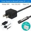 Kld marca 48 w fonte de alimentação para microsoft surface rt superfície 1 Superfície 2 Power Adapter Charger Linha Pad Tablet Bateria carregador