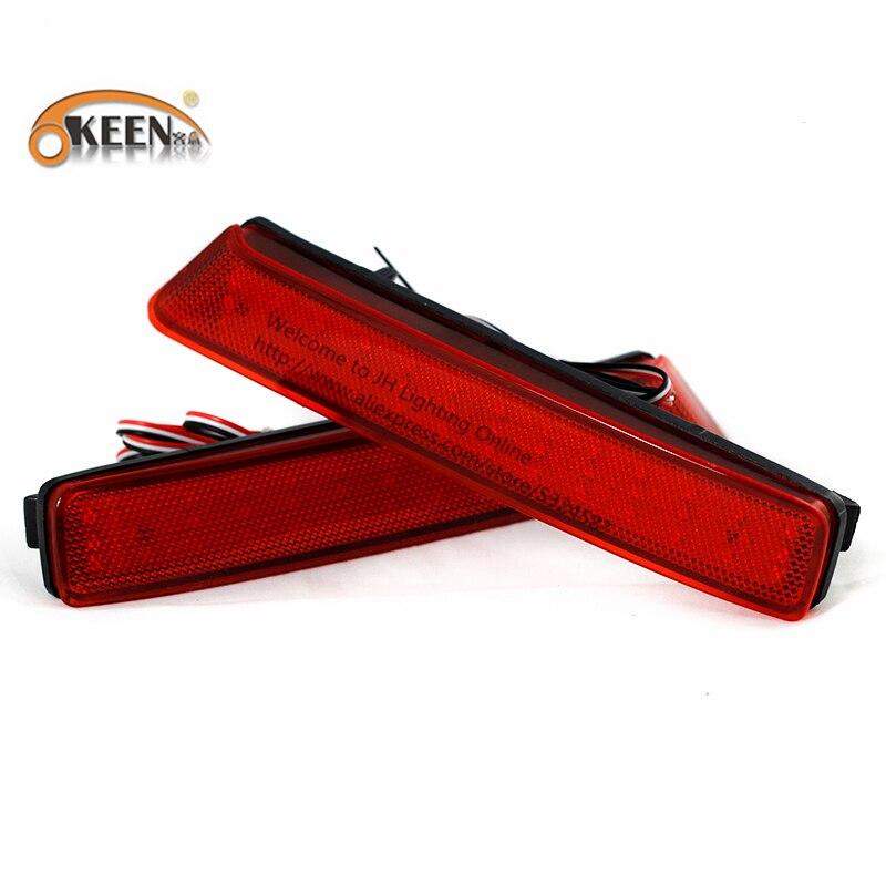 OKEEN 2Pcs/Lot Car Styling Rear Brake Fog Lights Rear Bumper Brake Lamps Automobiles For Honda Nbox Free Shipping 2016 Hot