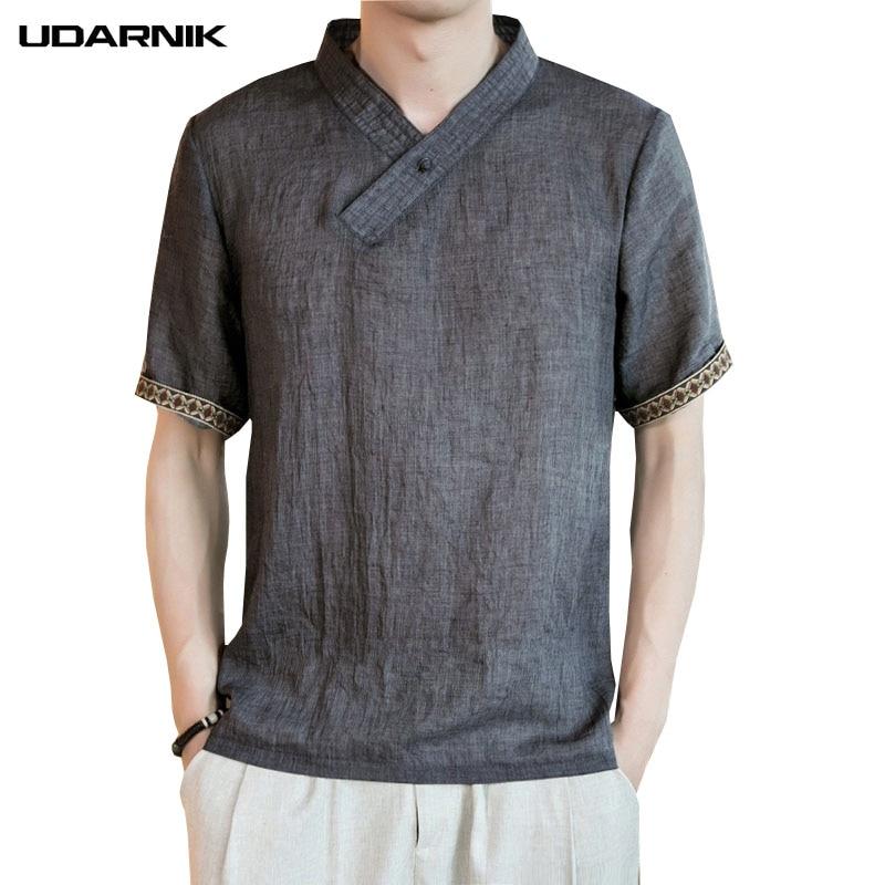 Hot Ethnic Summer Men/'s Linen Long Sleeve V-neck Shirt Loose Casual Shirts Tops