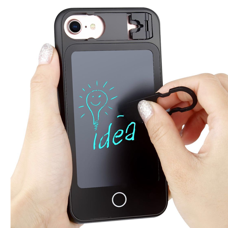 New LED Handwriting board Wordpad case for iphone 8 8plus 7 7plus 6s 6plus Silicon bumper with PC doodle phone cover for gifts