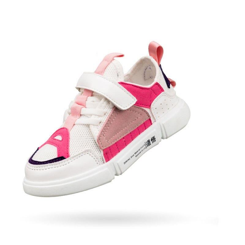 Mudibear Boys Shoes Girls Sneakers Kids Mesh Breathable Sport Shoes Children Tennis Sneakers Soft Flat School Shoe Spring 2018