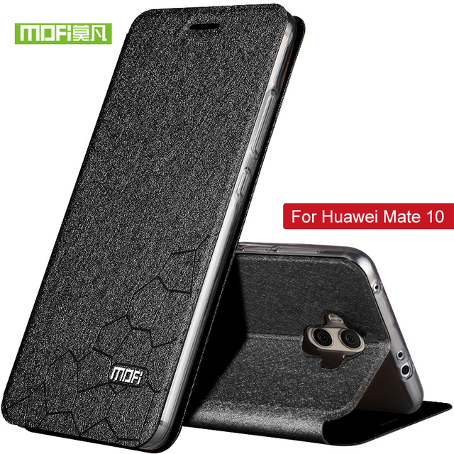 For Huawei Mate 10 Case PU Leather Flip Silicone Cover luxury Case...