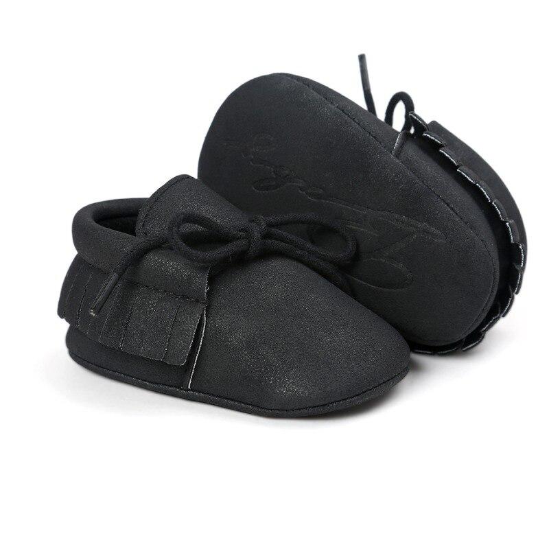 Chaussures de bébé chaud nouveau automne/printemps nouveau-né garçons filles enfant en bas âge chaussures en cuir PU bébé mocassins Sequin espadrilles décontractées 0-18M 3