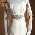 Luxurious Wedding Belts for Bridal Dazzling Beaded Crystals Attractive Evening Party Accessories for Women Sashes S1236