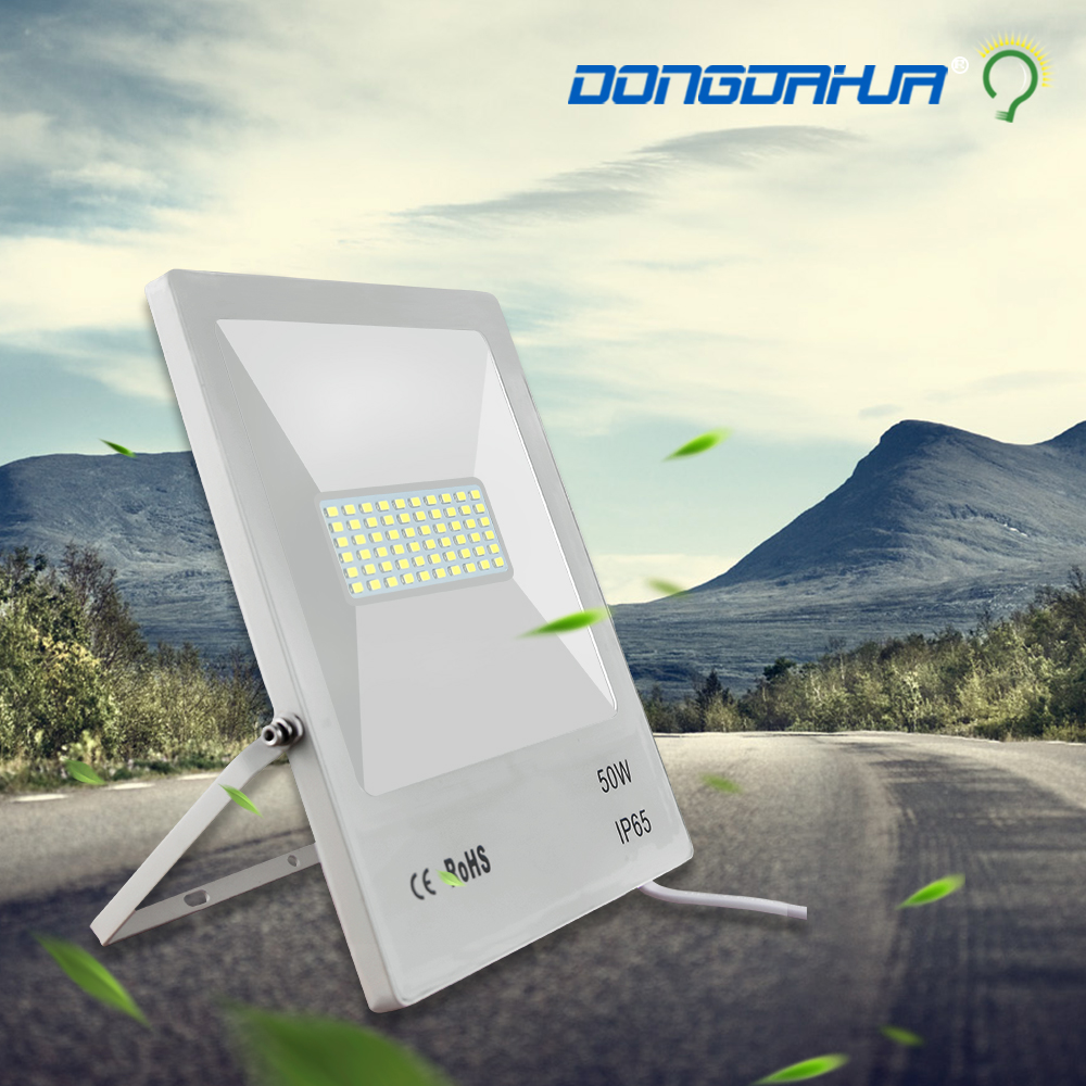 10 W 20 W 30 W 50 W 70 W 100 W lumière à la lumière d'inondation en plein air a mené le projecteur ip65 étanche jardin lampe projet lumière réflecteur