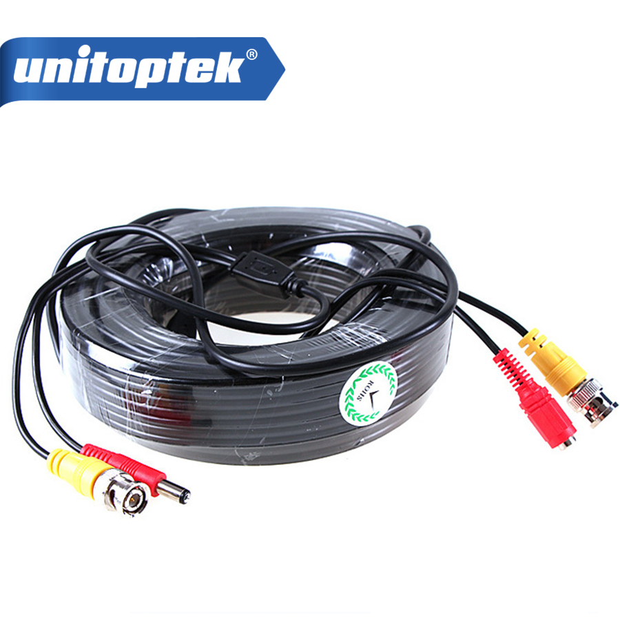 100FT CCTV Cable 30m BNC Video Power Coaxial Cable BNC Video Output ...
