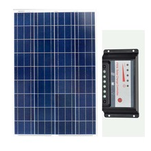 Kit Solar Panel 100w 12v Solar Charge Controller 12v/24v 30A Solar Battery Rv Boat Caravan Car Camping Off Grid Motorhome LED 500w off grid system complete kit 5 100w poly pv solar panel with 45a controller for 12v battery