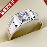 Platinum ring in 925 sterling silver ring ring Domineering ring opening free shipping