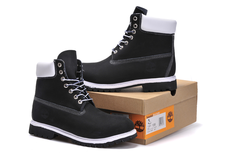 Men Timberland Black White TB Army Ankle Martin Motorcycle Boots,Man Military Leather Outdoor Timber Walk Punk Shoes 40-45 5