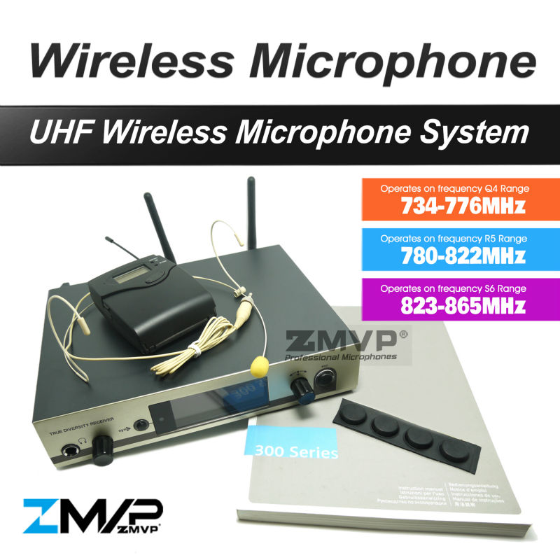 Free Shipping!! 322 G3 Professional UHF Wireless Microphone Cordless Karaoke System Mic With Body-Pack Transmitter Got 3 Band ur6s professional uhf karaoke wireless microphone system 2 channels cordless handheld mic mike for stage speech ktv 80m distance