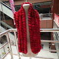 145 cm longo inverno mulheres reais rabbit fur scarf longo lady casual homens cachecol de pele 100% Pele De coelho rex estola de pele de alta Qualidade macio