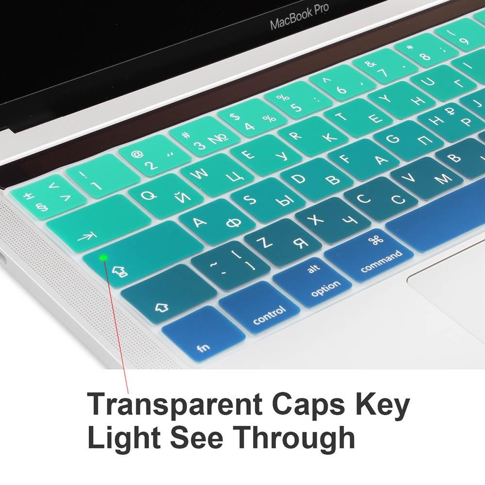 ES Rusijos spalvinga gradiento minkšta silikoninė klaviatūros - Nešiojamų kompiuterių priedai - Nuotrauka 5