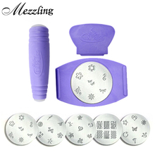 Salon Express Nail Art Stamping Set Tv Hot Professional Stamper Ser Plates Templates Kit