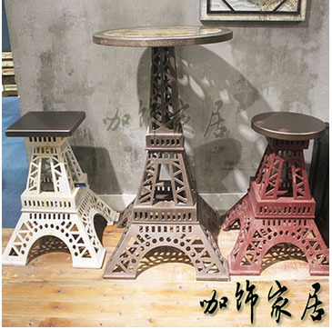 Charmant European Retro Coffee Specialties Iron Furniture Decorated The Eiffel Tower  Wood Tea Cafe Bar Hotel Furniture