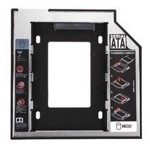 Отсек для жесткого диска универсальный 2,5 2-ой 9,5 мм Ssd Hd SATA жесткий диск HDD Caddy адаптер отсек для Cd Dvd Rom оптический отсек