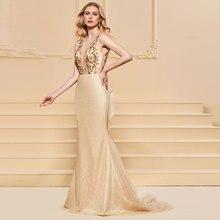 Tanpell scoop evening dress sleeveless backless floor length  women formal plus custom mermaid