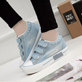 High Quality Denim Canvas Shoes Women Casual Shoes Breathable High Platform New 2016 Spring Autumn For Ladies Zapatos Mujer B216