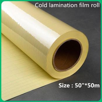50 #8222 * 50 m duża rolka folia do laminowania na zimno rolki do laminator błyszczący matowy folia do laminowania na zimno tanie i dobre opinie Papier fotograficzny colormaker