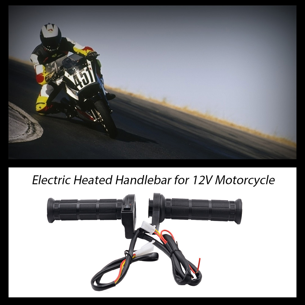 Motorcycle Heating Handle Universal 12V Electric Hand Grips Warmer Replacement
