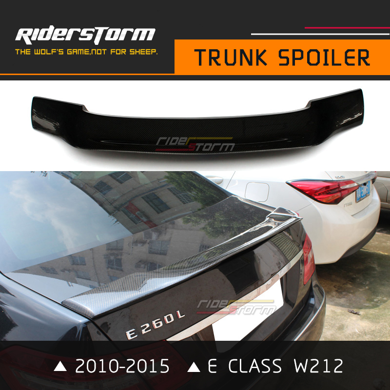 R Стиль спойлер с 3 м ленты Bootlid губ E класса углерод задний багажник хвост крыло для Mercedes E200 E250 2010-2015 4 Двери Седан