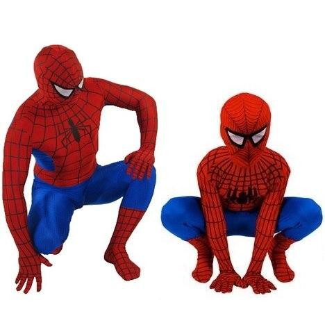 Halloween Cosplay Anime Superhero <font><b>Spiderman</b></font> Spandex <font><b>Costume</b></font> Full Bodysuit <font><b>Plus</b></font> Size <font><b>Spiderman</b></font> <font><b>Costume</b></font> For Kids and <font><b>Adult</b></font>