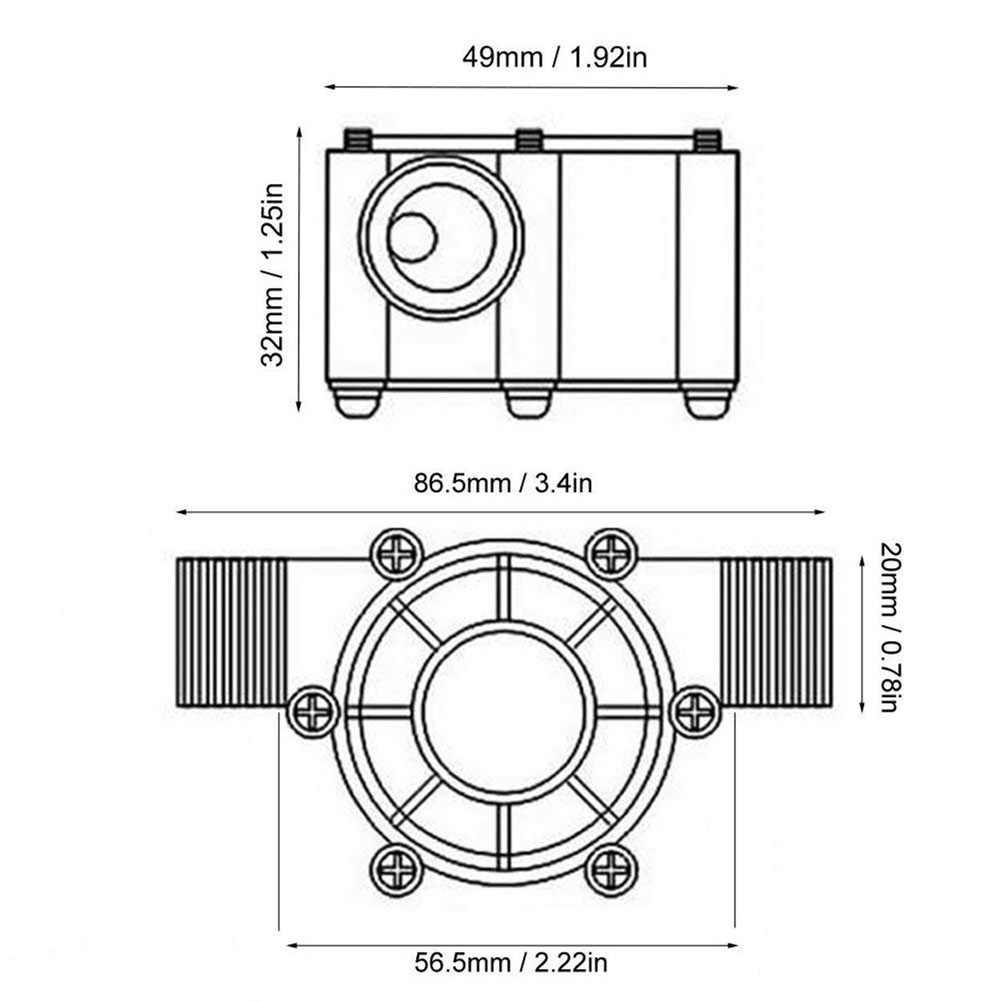 Водяная турбина генератора, работающего на постоянном токе 12 В в микро-гидро зарядки Прочный инструмент Беспроводной Мощность QJ888