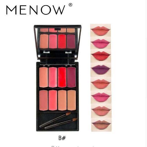 Menow Brand 8 colors Lip Gloss Palette Makeup Waterproof Lasting Moisturizer Lipsticks Women beauty lips Cosmetic Lip 2